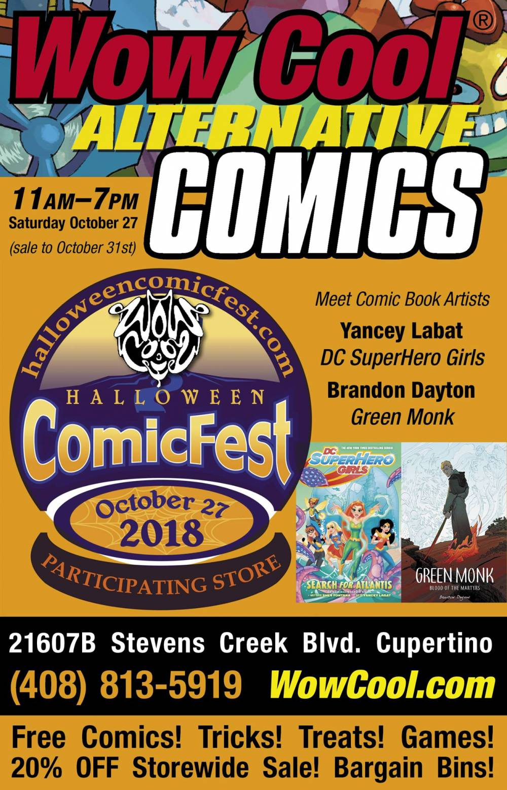 Halloween ComicFest Cupertino Saturday October 27
