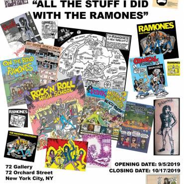 John Holmstrom Ramones Exhibit Opening September 5th