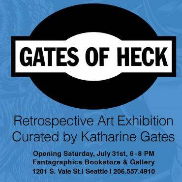 Gates of Heck Retrospective Exhibition at Fantagraphics Bookstore & Gallery