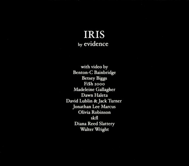 Evidence - Iris CD/DVD Set